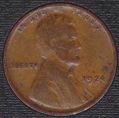 1924 P Lincoln Wheat Cent