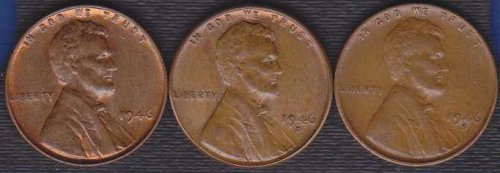 1946 P D & S Lincoln Wheat Cents