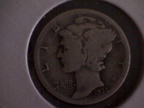 1935-S MERCURY DIME