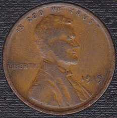 1919 P Lincoln Cent