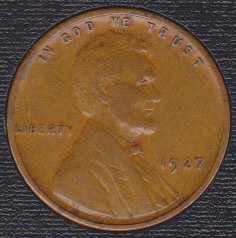 1927 P Lincoln Wheat Cent
