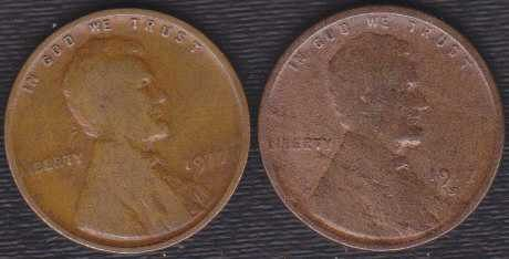 1917 S & P Lincoln Wheat Cents