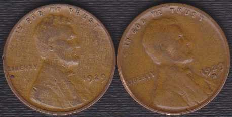1929 D & P Lincoln Wheat Cents