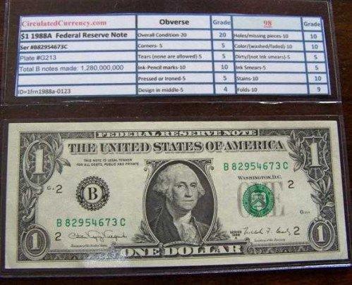 $1 1988A Note #b82954673c-1o
