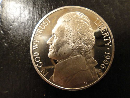 1996-S Jefferson Nickel Proof-65 (GEM)