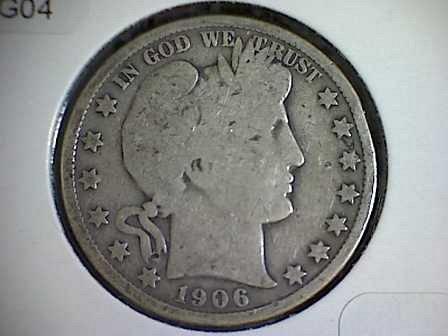 1906-P Barber Half Dollar