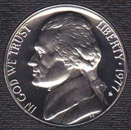 1977 S Jefferson Nickel