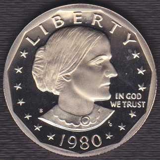 1980 S Susan B Anthony Dollar