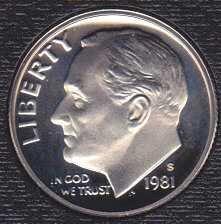 1981 S Roosevelt Dime