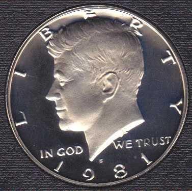 1981 S Kennedy Half Dollar