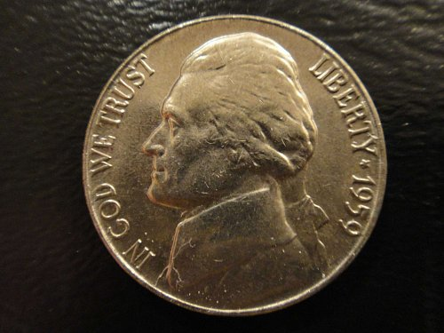 1959 Jefferson Nickel MS-65 (GEM) Near Full Steps