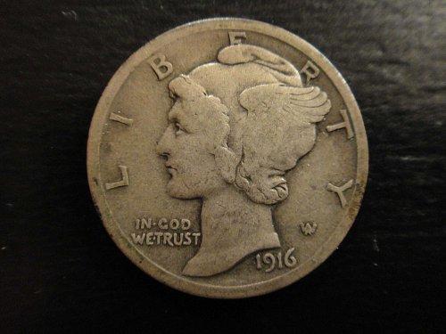 1916 Mercury Dime Fine-15