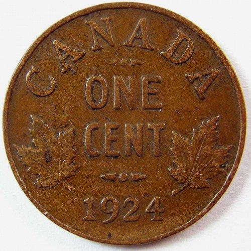 1924 CANADA CENT