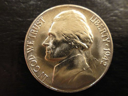 1942-S Jefferson Nickel MS-65 (GEM) 1 Step