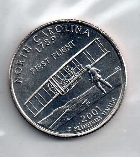 2001 D BU North Carolina Washington Quarter #3