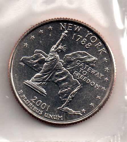 2001 P BU New York Washington Quarter #3