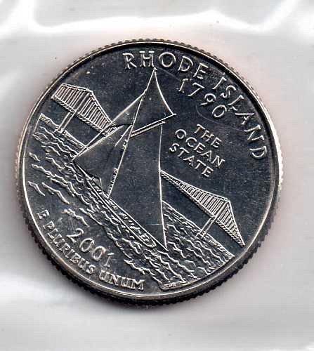 2001 p BU Rhode Island Washington Quarters #4
