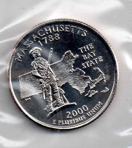 2000 P BU Massachusetts Washington Quarters #3