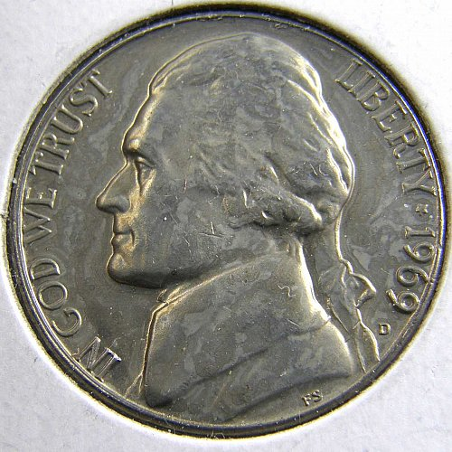 1969 D Jefferson Nickel
