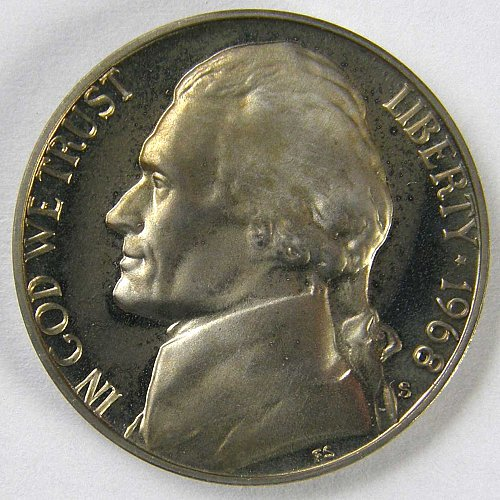 1968 S Jefferson Nickel