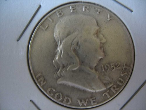 1952 D Franklin Half Dollar---Circulated---