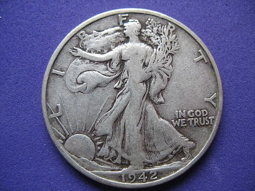 1942-S Walking Liberty Half Dollar- Circulated-------NICE COIN !!!!