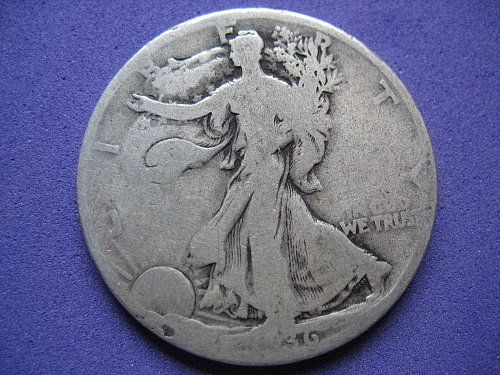 1936-P-Walking Liberty Half Dollar- Circulated----