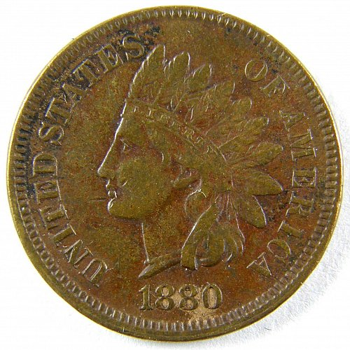 1880 P Indian Head Cent #1