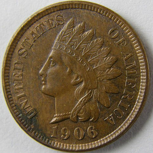1906 P Indian Head Cent #1