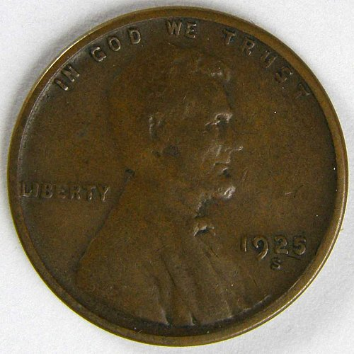 1925 S Lincoln Wheat Cent Variety