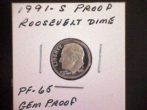 1991-S PROOF ROOSEVELT DIME