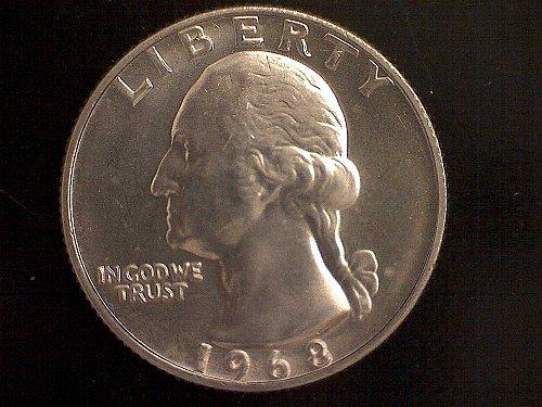 1968- P WASHINGTON QUARTERS