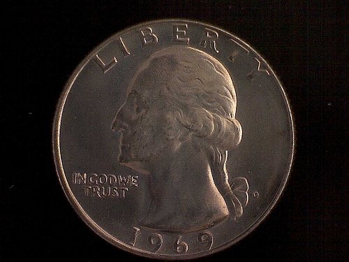 1969 D Washington Quarter