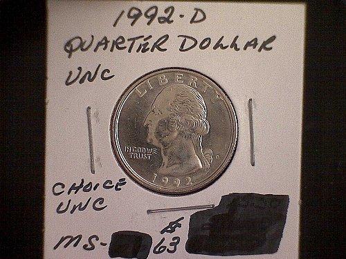 1992-D Washington Quarter