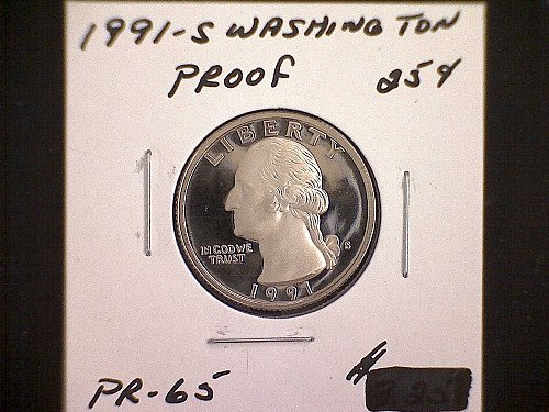 1991-S WASHINGTON QUARTER