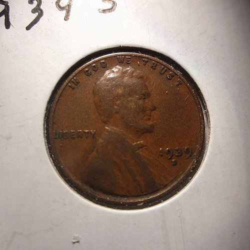 1939 S Lincoln Wheat Cent Small Cents:  Nice Penny