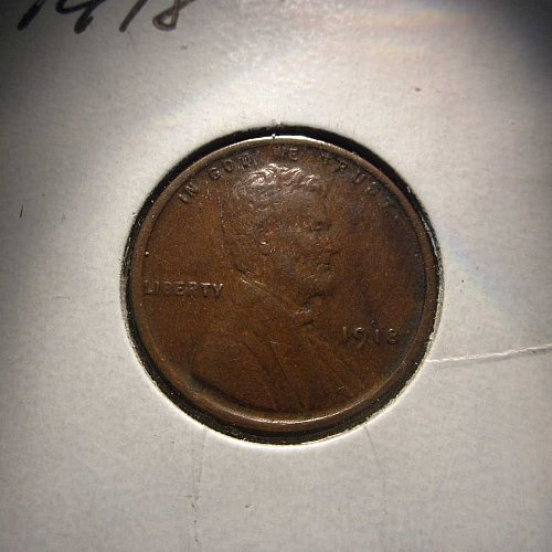1918 Lincoln Wheat Cent Small Cents:  Nice Penny
