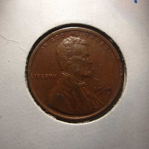 1919 Lincoln Wheat Cent Small Cents:  Nice Penny