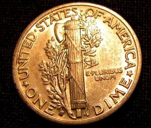 1937 S  GEM BU Mercury Silver Dime  #12-B     FINAL LISTING///