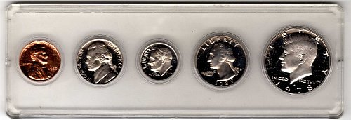 Mixed date Proof Coins in Snap[Lock Holder