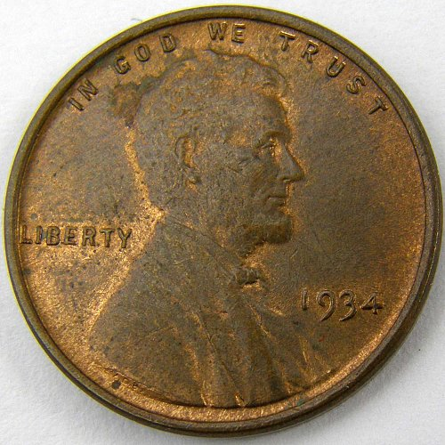 1934 P Lincoln Wheat Cent