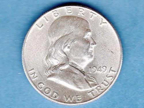 1949 Silver Franklin Half Dollar BU FL US Coin