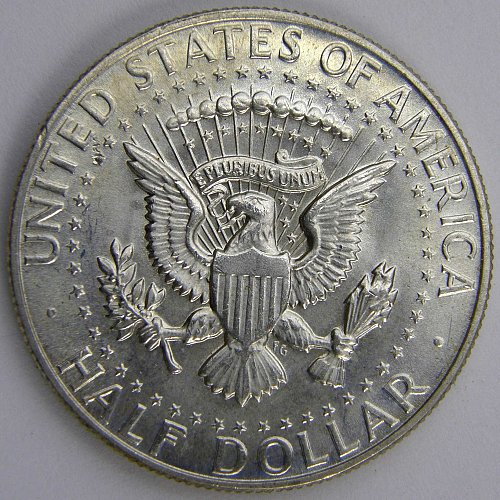 1968 D Kennedy Half Dollar DOUBLING ON REVERSE
