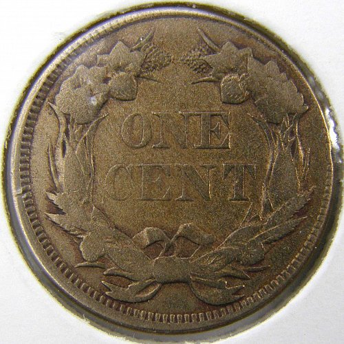 1858 P Flying Eagle #2 Cent - 2% OFFSET REVERSE