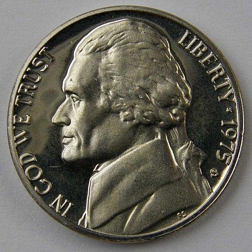 1975 S Jefferson Nickel Proof CAMEO GEM