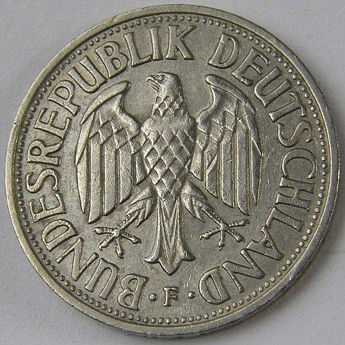 1956F Germany 1 Deutschmark 1 Mark