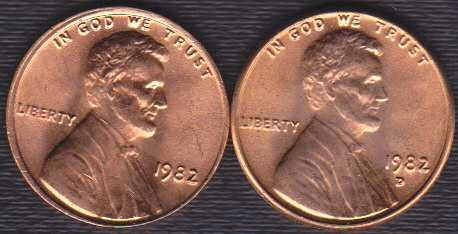 1982 P & D Lincoln Memorial Cents, Copper