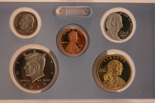 2010 PROOF  SET 14 COINS BOX & COA
