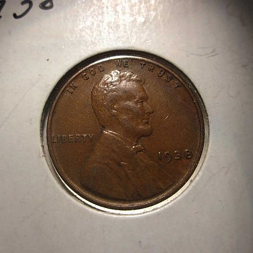 1938 Lincoln Wheat Cent Small Cents:  Nice Penny