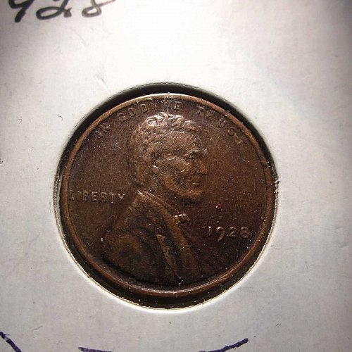 1928 Lincoln Wheat Cent Small Cents: Nice Penny -Nice Machine doubling on date